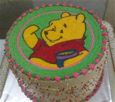 cara membuat kue ulang tahun winnie the pooh biteme rainbow cake jakarta indonesia