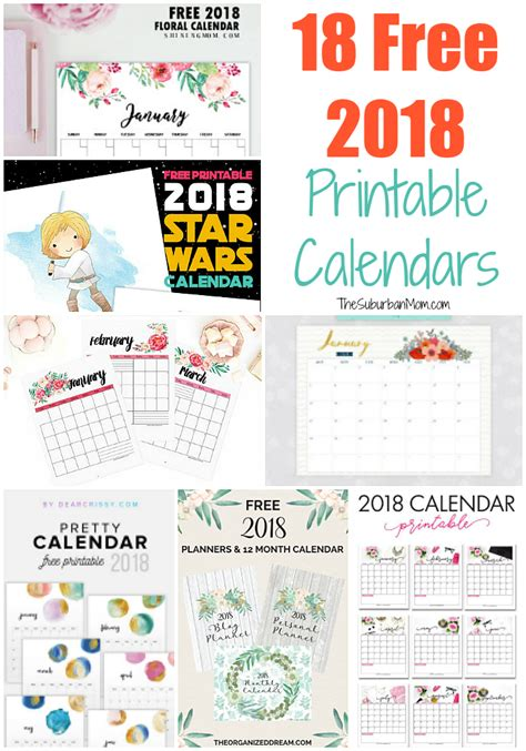 printable calendar mom free 2018 calendar printable for download the suburban mom
