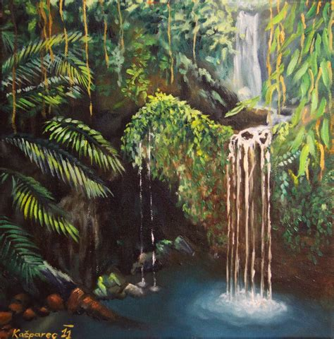 jungle painting jungle peacefullness painting
