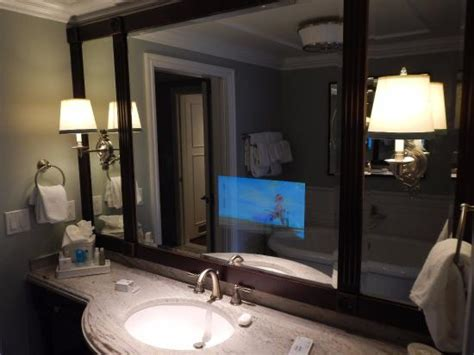 tv for bathrooms reviews television in bathroom mirror picture of disney s grand