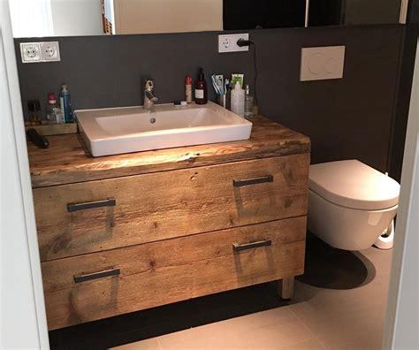 Holz Selber Bauen 4394 by Waschtischunterschrank Fur Aufsatzwaschbecken Holz