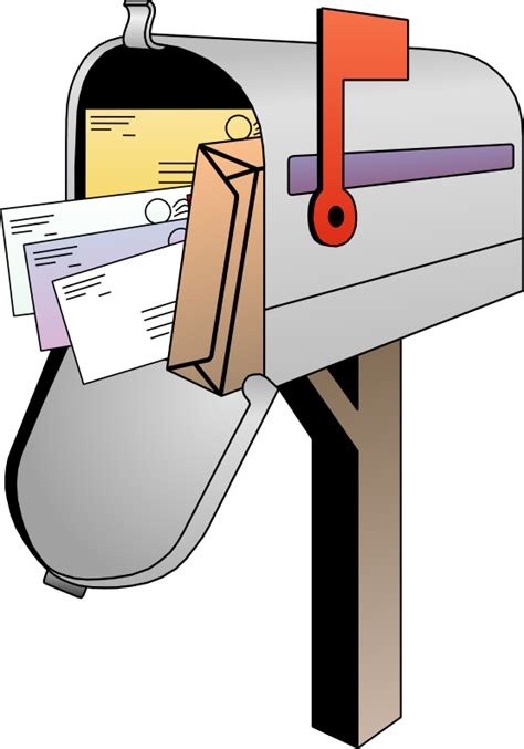 Mailbox Clipart free open mailbox with letters clip
