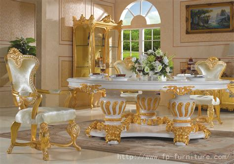 Gold Dining Room Chairs by Filiphs Palladio Italian Classic Hand Carved Royal