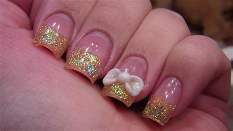 With Nails by Nail Design With Bows And Diamonds Www Pixshark