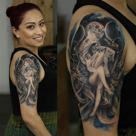 tattoo cost in pune realistic moon dess underwater colourtattoo moon realism full