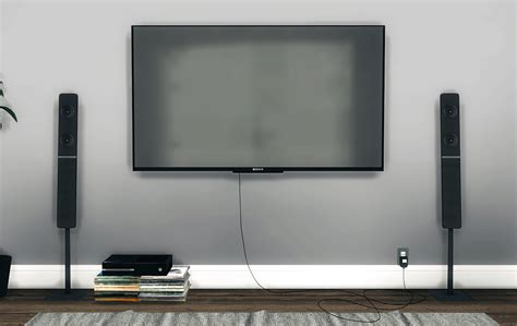 wall tv sony wall mounted tv by mxims teh sims