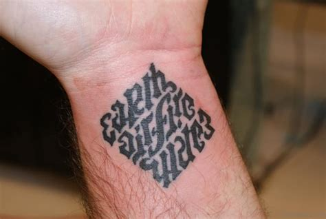 small water tattoos 70 wonderful ambigram tattoos for wrist