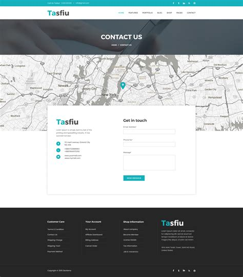 themeforest contact tasfiu corporate psd template by psd right sell