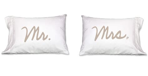 Mr Mrs Pillow Cases by Faceplant Mr Mrs Standard Pillow Pair