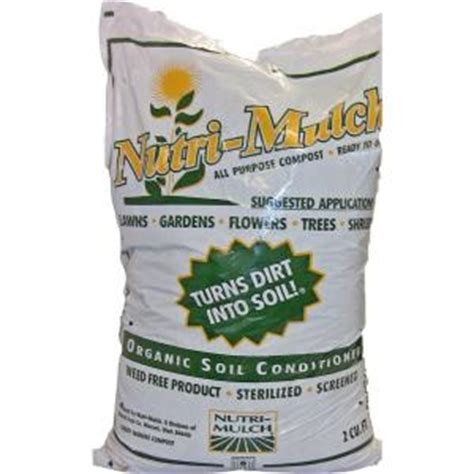 nutri mulch 2 cu ft organic soil conditioner 101323
