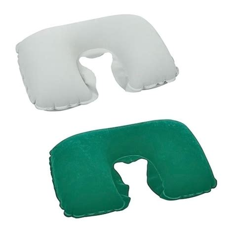 Travelling Products Pillow Air Bantal Angin detil produk bantal angin leher travel pillow hijau