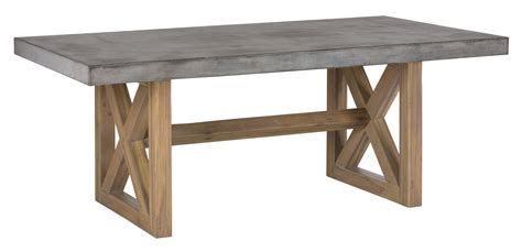 Concrete Dining Table  Rectangle by Jofran   Wolf and