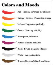 mood colors chart colors and moods food coach inspiration
