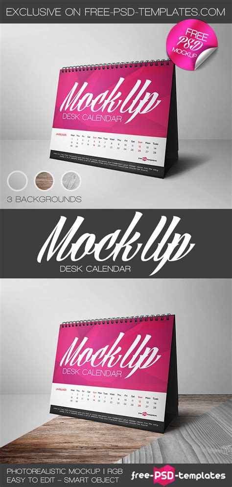 how to make a desk calendar in photoshop free desk calendar mock up in psd free psd templates
