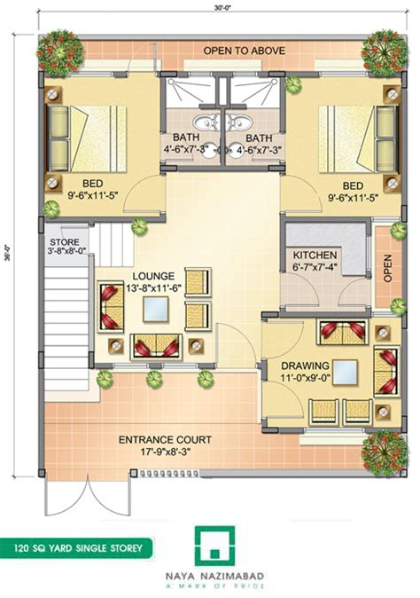 house design sles layout bungalows naya nazimabad