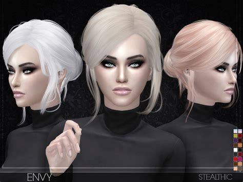 sims 4 cc hair stealthic envy female hair