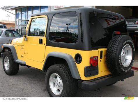 2001 solar yellow jeep wrangler sport 4x4 36407092 photo 2 gtcarlot car color galleries