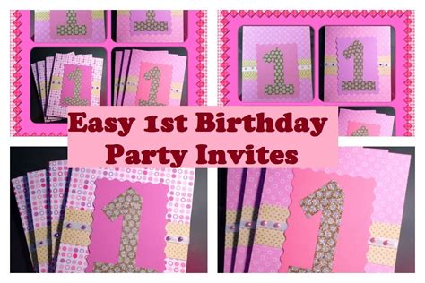 Handmade 1st Birthday Invitations - handmade birthday invitations iidaemilia