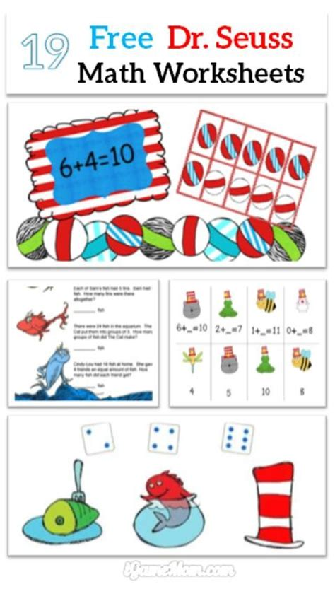 Dr Seuss Math Worksheets by Free Dr Seuss Math Printable Worksheets For
