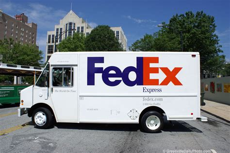 Fedex Background Check How Fedex Truck With The Carolina In The Background
