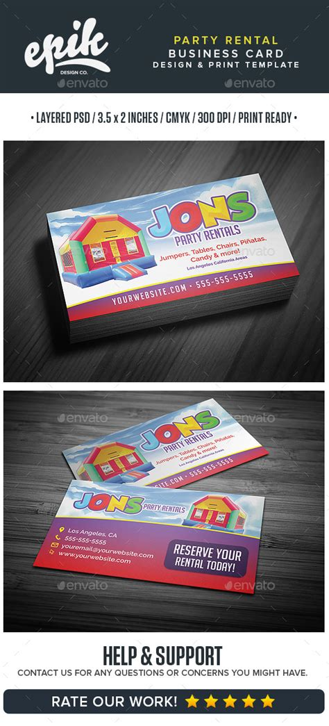 rental business card template rental store business card template by flyerpunkz
