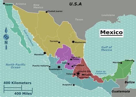 map of mexico area info carte amerique mexique