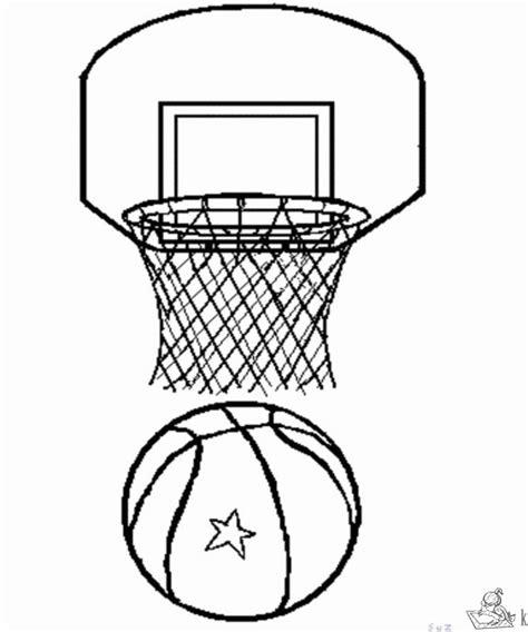 coloring page basketball hoop kleurplaten basketbal kleurplaten kleurplaat nl