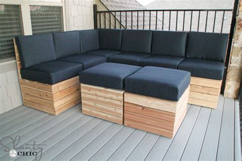 build outdoor sofa diy modular outdoor seating shanty 2 chic