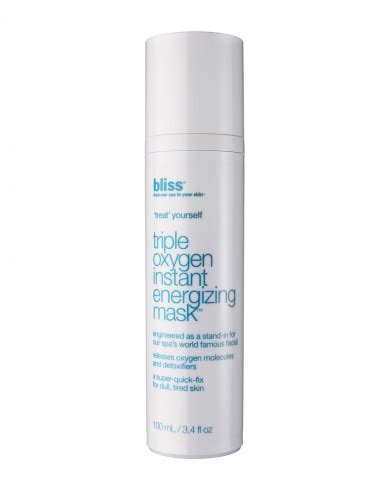 Bliss Oxygen Instant Energizing Mask by Review Bliss Instant Energizing Mask Oxygen