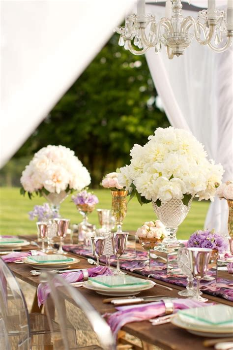 backyard wedding setup ideas elegant outdoor wedding table setting table set up ideas pinterest