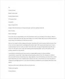 Recommendation Letter Template For A Business Sle Recommendation Letter 9 Exles In Word Pdf
