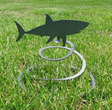 baby shark metal shark spring garden metal art 24 99 via etsy