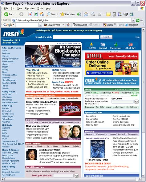 image gallery msn homepage