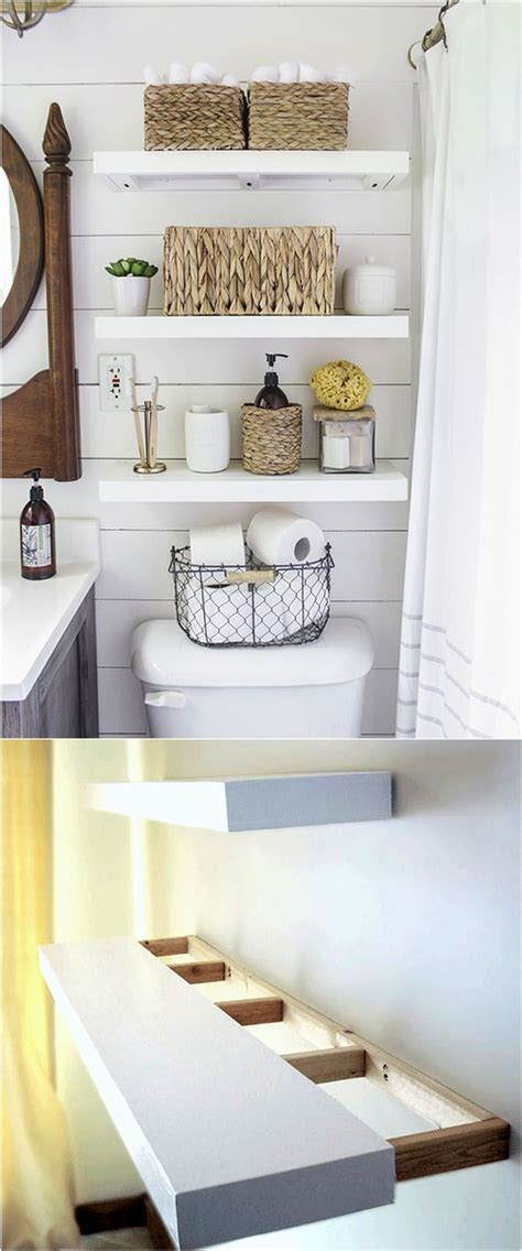 Bathroom Wall Shelf Ideas 17 Answers To Bathroom Storage Ideas With Diy 3 Diy Floating Shelves Diy Crafts You Home Design