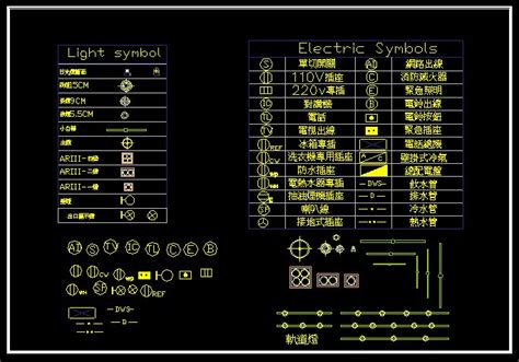 lights engineering blocks cad drawings downloadcad