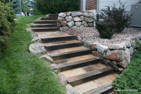 new old flagstone steps diy dad