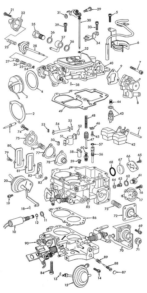 Aisan 2 Barrel Exploded View Carburetor Factory