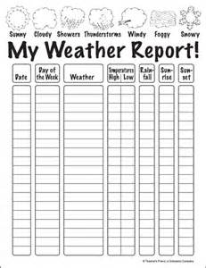 Kids Weather Report Template my weather report parents scholastic com