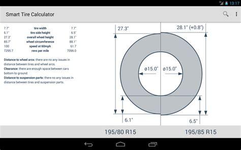 diagram length width height tire size calculator tire size comparison chart autos post