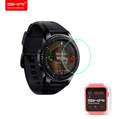 Tempered Glass Samsung Gear S3 Classic Frontier sikai new arrival tempered glass screen protector for samsung gear s3 classic guard