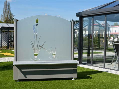 windschutz aus glas f 252 r garten und terrasse
