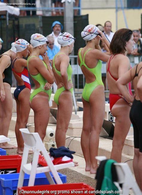 candid female swimmer college girls swim team oops