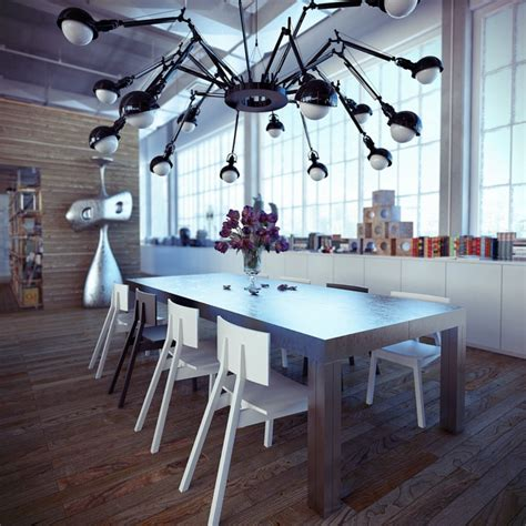 industrial dining room industrial loft