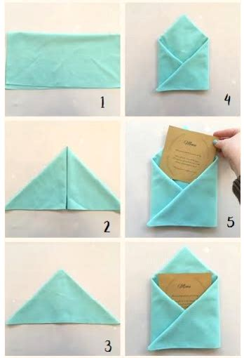 7 basic table napkin folding envelope napkin fold diy tutorial
