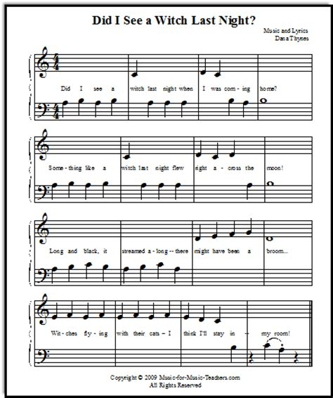 halloween themed songs halloween songs for beginner piano students with lettered