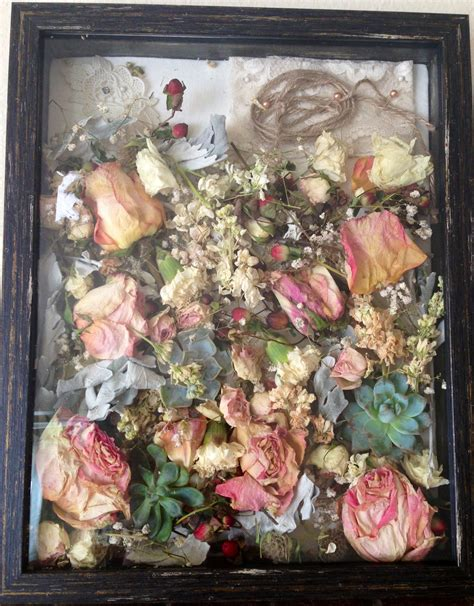 dried out my wedding bouquet to keep the memory forever in