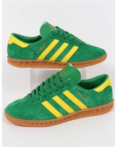 Adidas Green adidas hamburg trainers green yellow mens originals