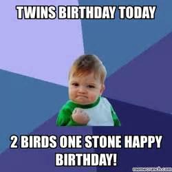 Twin Birthday Meme - twin sisters memes