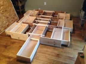 Diy Bed Frame With Storage Plans Best Storage Bedframe New Pine 7 Drawer In