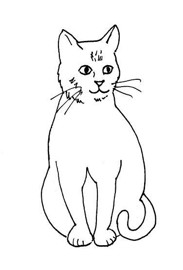 cat drawings clipartsco